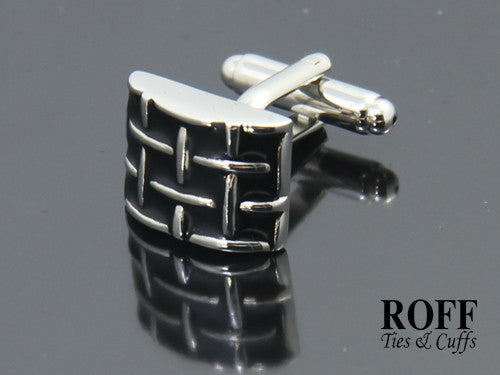 Black Geometric Pattern Cufflinks