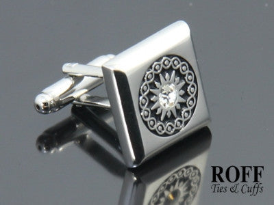 Celtic Pattern Cufflinks - Single Crystal