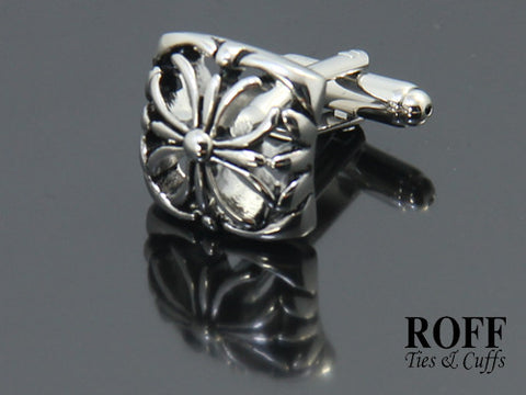 Hollow Celtic Floral Cufflinks