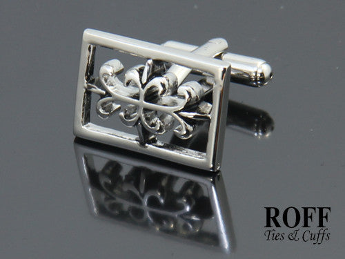 Hollow Frame Celtic Floral Cufflinks