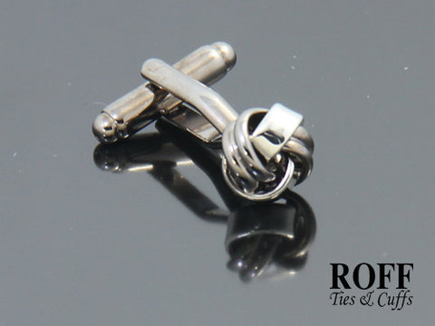 Gunmetal Techno Knot Cufflinks