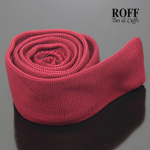 Plain Red Knitted Tie