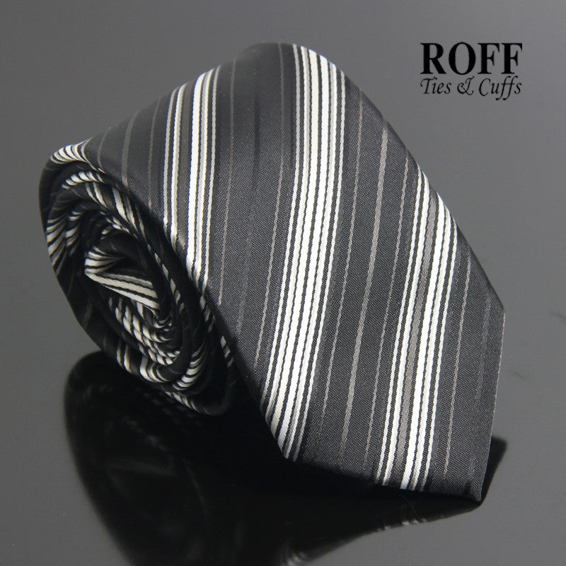 Black Club Stripe Tie