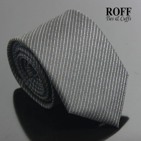 Black Tie with Fine Grey Stripes