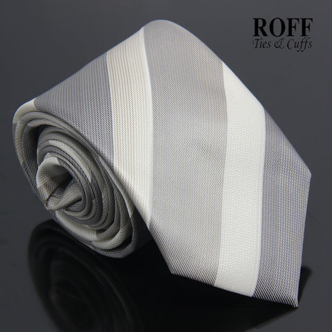Grey Broad Striped Tie