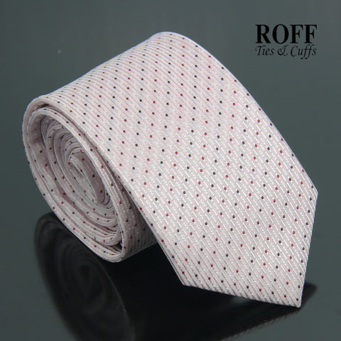 Light Pink Tie with Fine Polka Dots