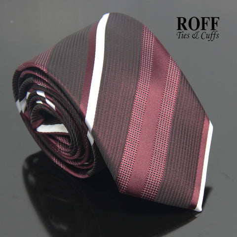 Deep Burgundy Striped Tie