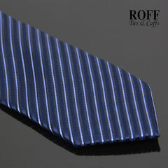 Basic Navy Blue Striped Tie