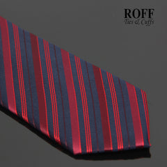 Navy Blue Tie with Red Stripes
