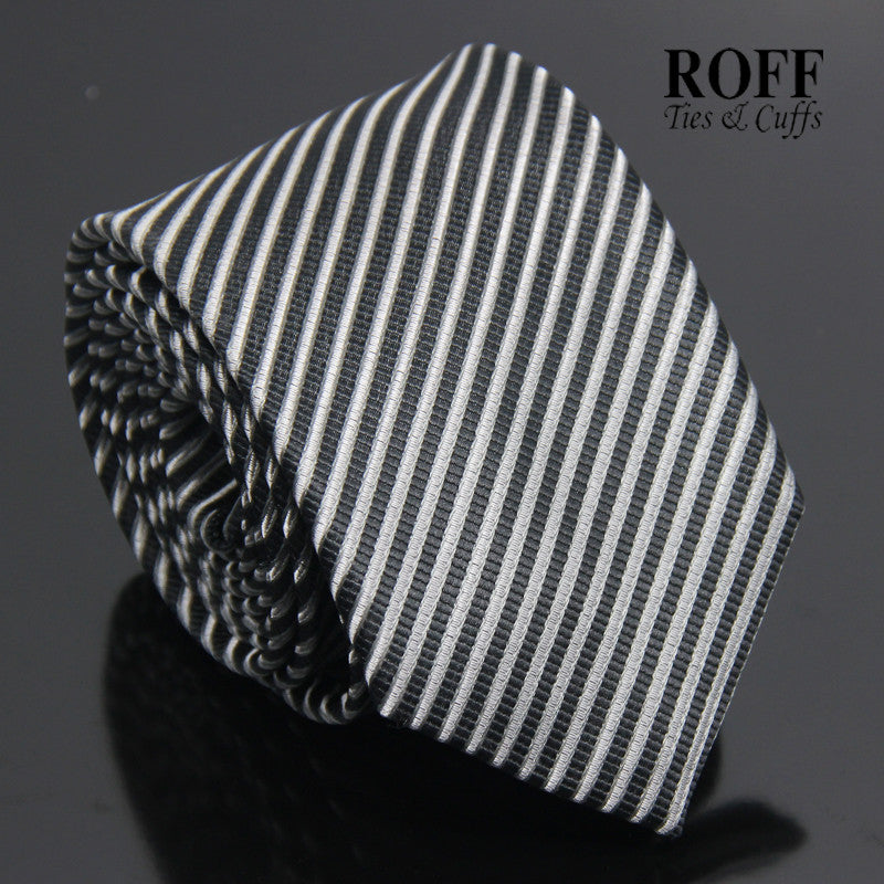 Black and Grey Stripes Tie