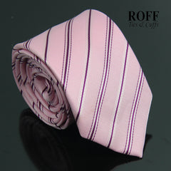 Pink Tie with Thin Fuchsia Stripes