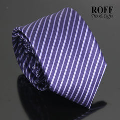 Purple Tie with Thin Lilac Stripes