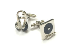 DJ Turn Table & Headphone Cufflinks