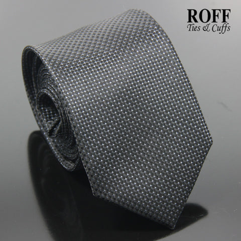 Black Fine Dot Textured Tie