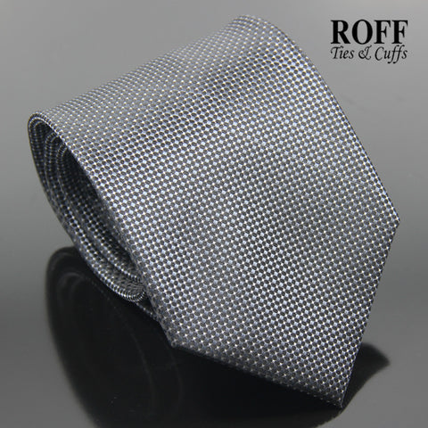 Charcoal Black Fine Dot Textured Tie