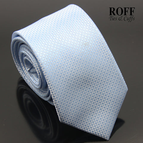 Sky Blue Fine Dot Textured Tie