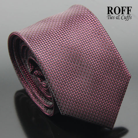 Burgundy Fine Dot Textured Tie