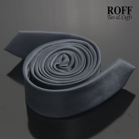 Charcoal Grey Ultra Skinny Tie