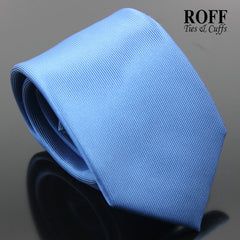 Blue Vertical Textured Plain Tie