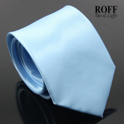 Sky Blue Vertical Textured Plain Tie