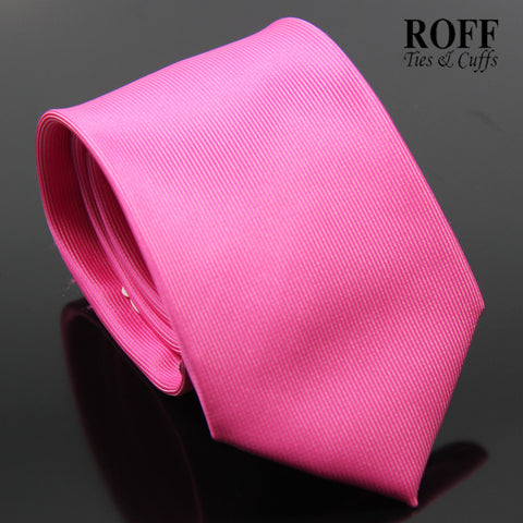 Shocking Pink Vertical Textured Plain Tie