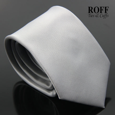 Silver Vertical Textured Plain Tie