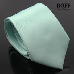 Tiffany Green Vertical Textured Plain Tie