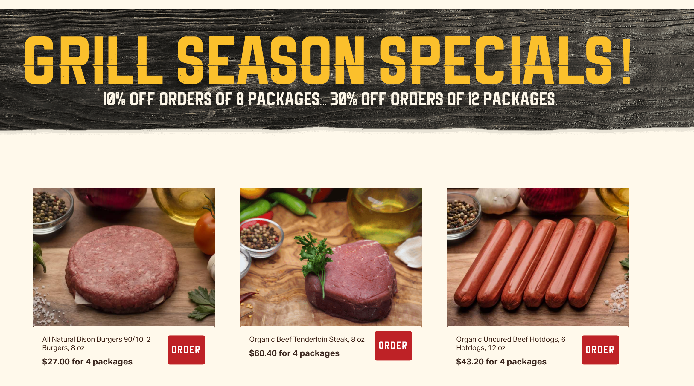 Grill season specials from Frontiere Natural Meats