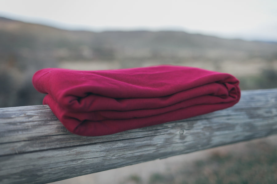 Organic Cotton Stretchy Wrap Carrier Maroon (One way stretchy)