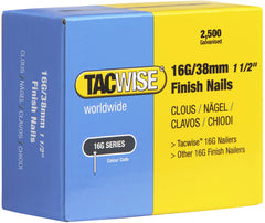 2500 Tacwise 38mm 16 Gauge Straight Finish Nails Brads 38mm galvanised
