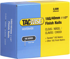 2500 Tacwise 40mm 16 Gauge Straight Finish Nails Brads 40mm galvanised