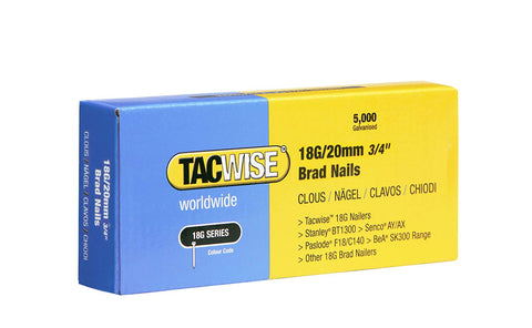 Tacwise 18 Gauge 20mm 30mm 32mm 40mm 50mm Brad Nails Galvanised 4 Nail Guns 18G