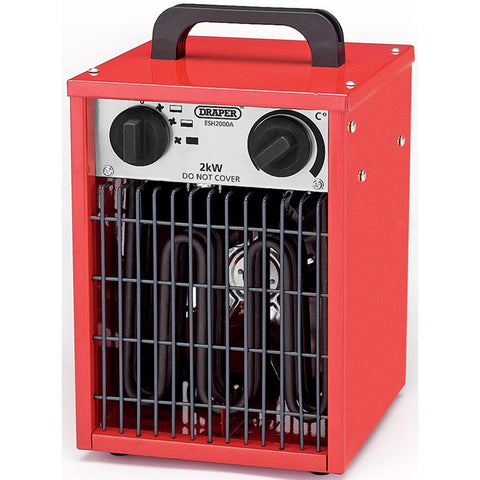 Draper 2KW 230V Space Heater IPX4 Rated ideal for office garage shed blower