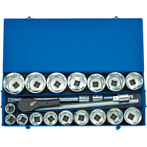 "DRAPER  1"" SQ. DR. METRIC SOCKET SET IN METAL CASE (22 PIECE)"