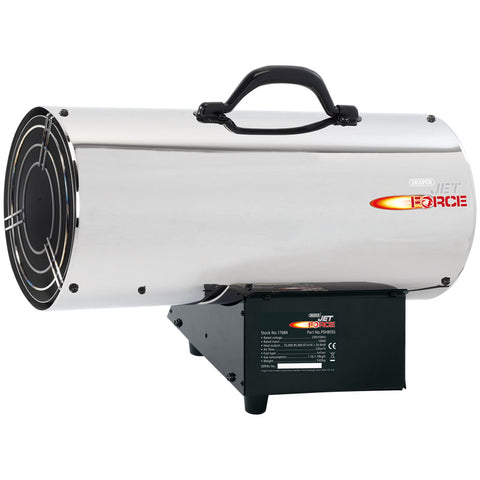 Draper Jet Force Stainless Steel Propane Space Heater (85,000 BTU/25KW) 17684