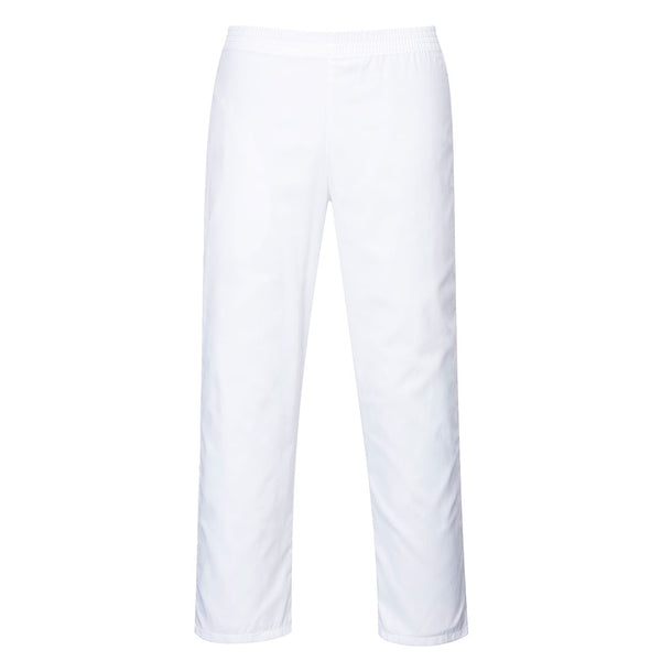 Portwest 2208 - White Food Industry Baker Trousers sz Large Regular