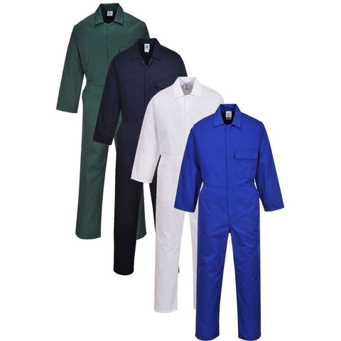Portwest 2802 - Navy Royal Blue White Standard Coverall boiler suit Mechanic