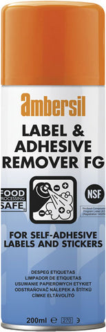 Ambersil 200ml Label & Adhesive Remover FOOD SAFE FG NSF K3  30254
