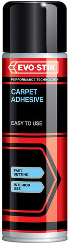 Evo-Stik 30812304 500 ml Carpet Adhesive  Light Amber Glue Aerosol Spray