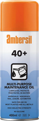 Ambersil 31563 - 40+ Protective Lubricant 400ml Multi Purpose Maintenance Oil