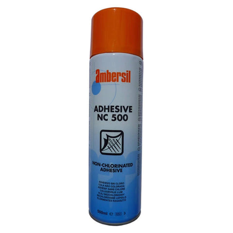 Ambersil 31623 NC 500 Non Chlorinated Spray Adhesive 500ml 2-4 Mins Tack Time