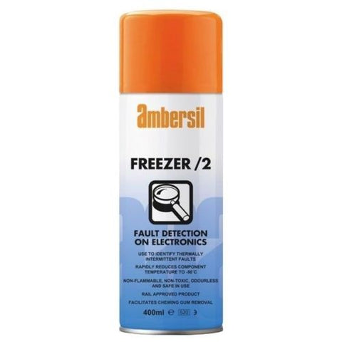 Ambersil Freezer /2 Fault Detection Spray For Electronics RAIL Approved 33182