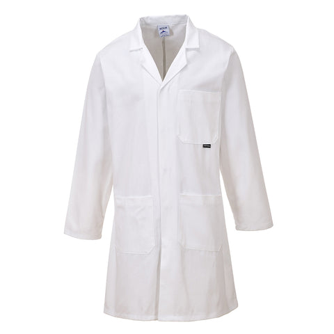 Portwest C851 - White Sz M Standard Coat Overall Lab