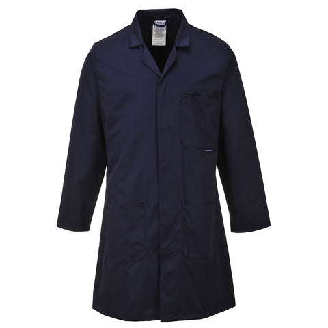 Portwest C852 - Navy & White Standard Coat Overall Lab
