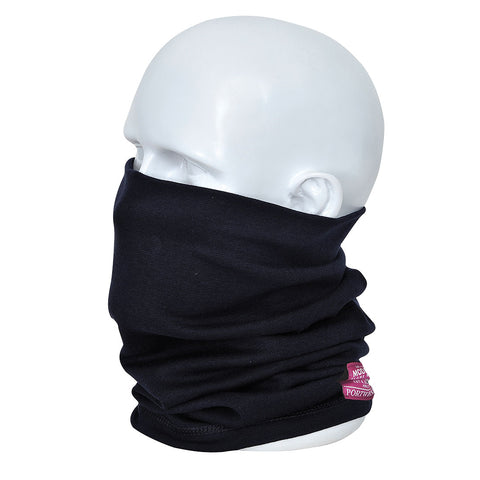 Portwest FR19 - Navy Flame Resistant Anti-Static Neck Tube Snood Welding