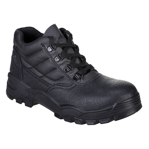 Portwest FW10 - Black Steelite Protector Safety Boot S1P Toe Cap