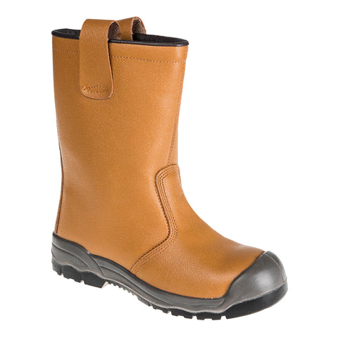 Portwest FW13 - Tan Sz UK 5 Steelite Rigger Boot S1P CI (With scuff cap) Safety