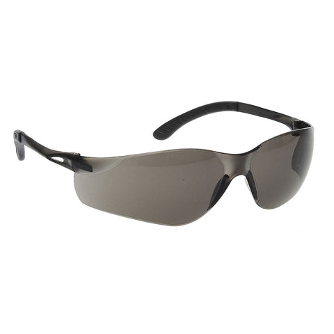 Portwest PW38 - Brown Lens Black Frame Safety Glasses Pan View CE certified