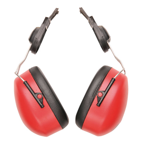 Portwest PW47 - Red   Endurance Clip-On Ear Protector Muffs
