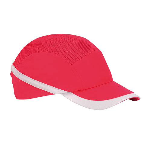 Portwest PW69 - Red vented hiviz bump cap safety hard hat sz  Regular Hardhat Baseball